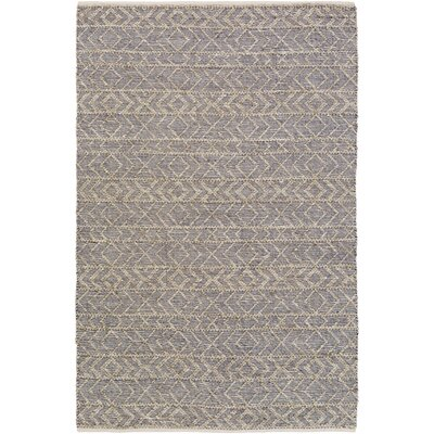 Glass Cobalt/Light Gray Area Rug Rug Size: Rectangle 4 x 6