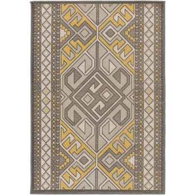 Hasselt Brown/Gold Area Rug Rug Size: Rectangle 28 x 5
