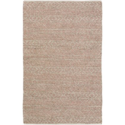 Glass Hand-Woven Rust/Gray Area Rug Rug Size: Rectangle 4 x 6