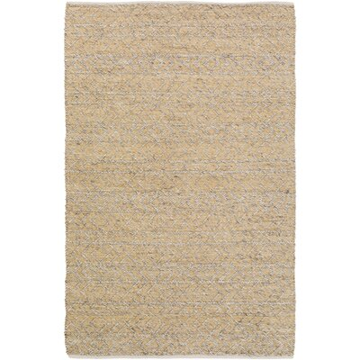 Glass Hand-Woven Beige Area Rug Rug Size: Rectangle 2 x 3