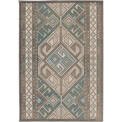Septfontaines Teal/Beige Area Rug Rug Size: Rectangle 22 x 4