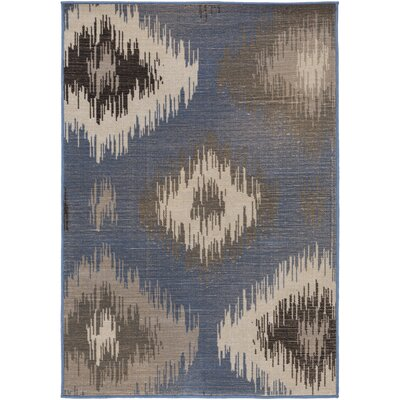 Clementina Gray/Blue Area Rug Rug Size: Rectangle 68 x 98