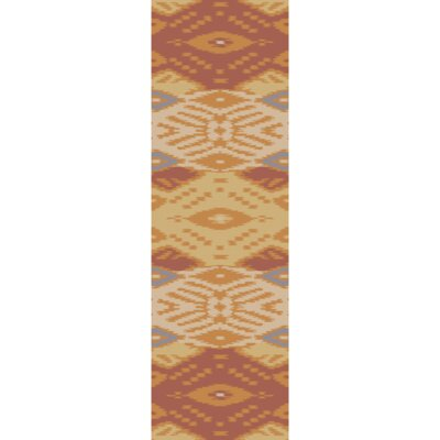 Hays Hand-Woven Rust/Gold Area Rug Rug Size: Runner 26 x 8