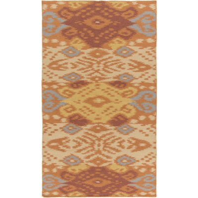 Hays Hand-Woven Rust/Gold Area Rug Rug Size: Rectangle 5 x 76