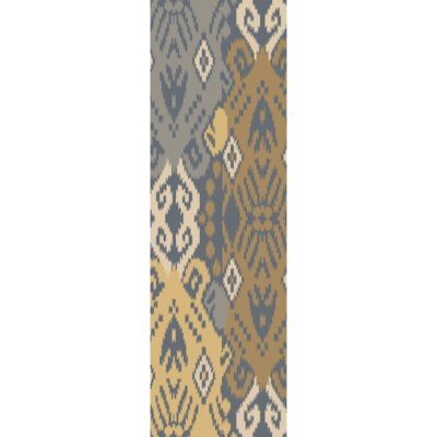 Hays Hand-Woven Teal/Gold Area Rug Rug Size: Runner 26 x 8