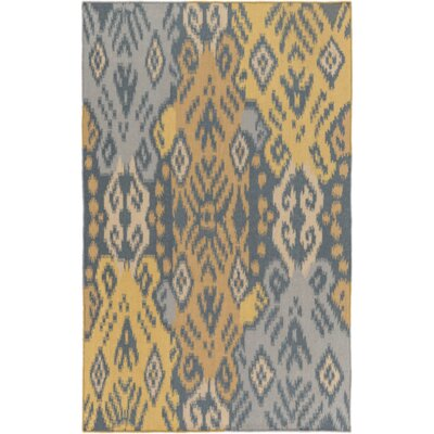 Hays Hand-Woven Teal/Gold Area Rug Rug Size: Rectangle 4 x 6