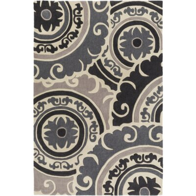 Ramgan Hand-Tufted Gray Area Rug Rug Size: Rectangle 36 x 56