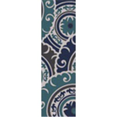 Tripolia Hand-Tufted Blue Area Rug Rug Size: Runner 26 x 8