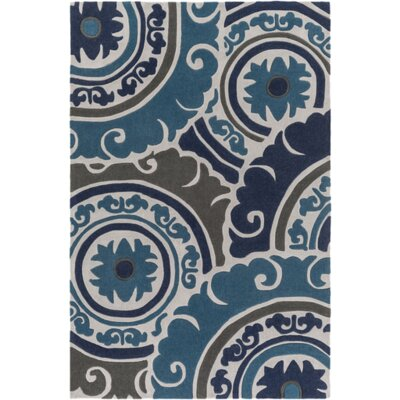 Tripolia Hand-Tufted Blue Area Rug Rug Size: Rectangle 9 x 13