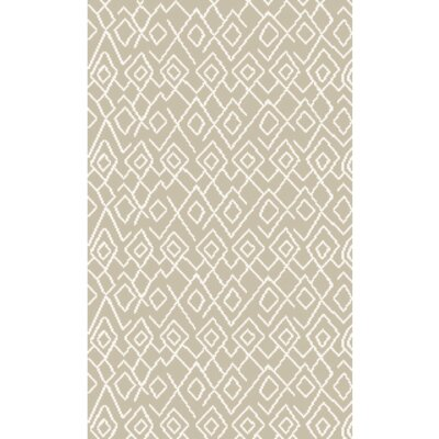 Jordan Hand-Knotted Ivory Area Rug Rug Size: Rectangle 5 x 8