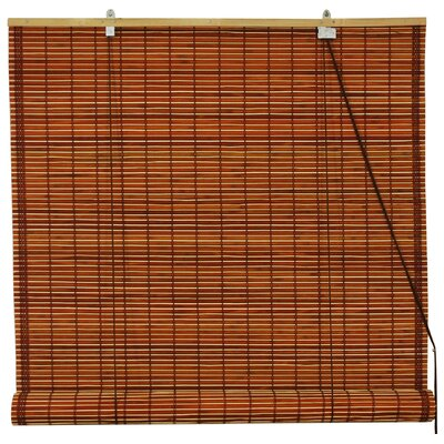 Roll-Up Shade Size: 60 W x 72 L, Color: Mahogany
