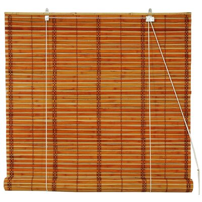 Unique Bamboo Roll-Up Shade Size: 24 W x 72 L, Color: Two Tone Honey