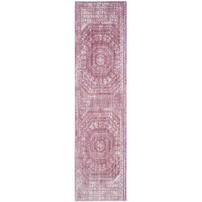 Thanh Mauve/Cream Area Rug Rug Size: Runner 2'3