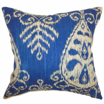 Laqdim Ikat Throw Pillow Size: 20 x 20, Color: Sapphire