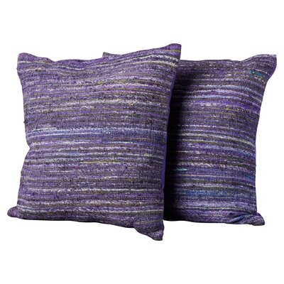 Hory Silk Throw Pillow Color: Dark Orchid