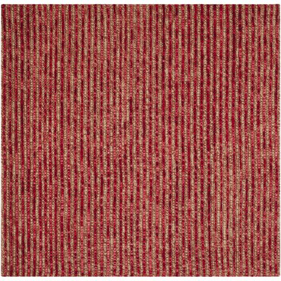 Romero Red Area Rug Rug Size: Square 6