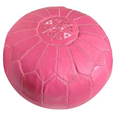 Carolos Pouf Leather Ottoman Upholstery: Dark Pink
