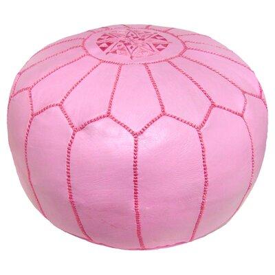 Carolos Pouf Leather Ottoman Upholstery: Pink