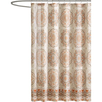 Brayson Shower Curtain Color: Orange