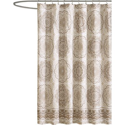 Chloe Shower Curtain Color: Taupe