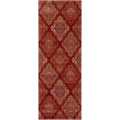 Mckee Burgundy Area Rug Rug Size: Rectangle 27 x 47