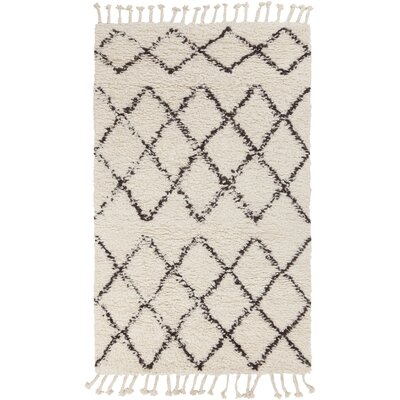 Haven Hand-Woven Wool Ivory Area Rug Rug Size: Rectangle 5 x 76