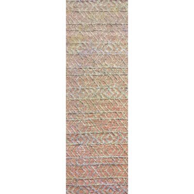 Glass Hand-Woven Rust/Gray Area Rug Rug Size: Runner 26 x 8