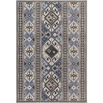 Septfontaines Gray Area Rug Rug Size: 68 x 98