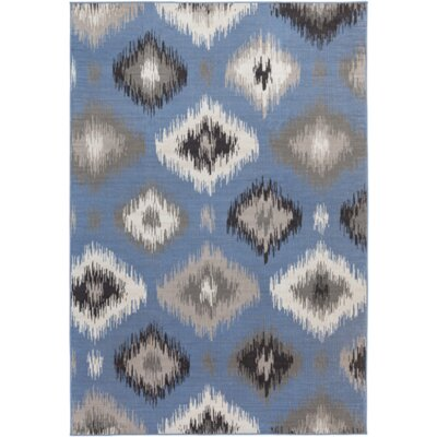 Clementina Gray/Blue Area Rug Rug Size: Rectangle 54 x 78