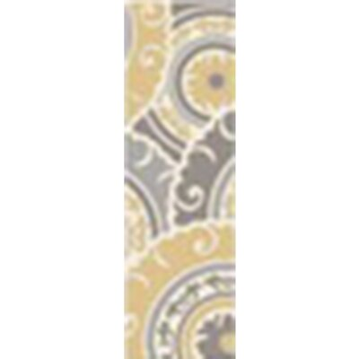 Tripolia Hand-Tufted Gold/Ivory Area Rug Rug Size: Runner 26 x 8