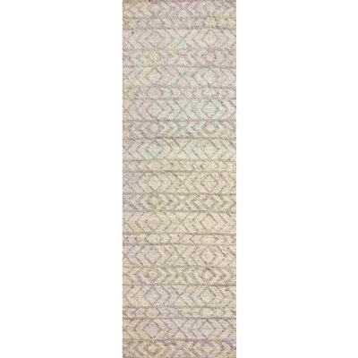 Glass Hand-Woven Ivory Area Rug Rug Size: Rectangle 4 x 6