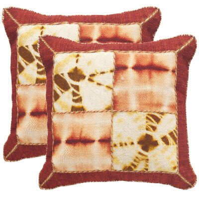 Tarnby Quartre Patch Decorative Throw Pillow Size: 20 H x 20 W x 2.5 D, Color: Chili Pepper