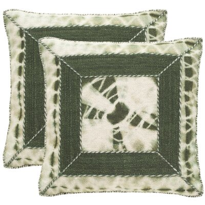 Patch Decorative Throw Pillow Size: 20 H x 20 W x 2.5 D, Color: Medina Blue