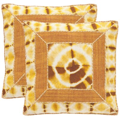 Patch Decorative Throw Pillow Color: Tumeric, Size: 24