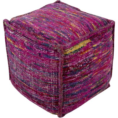 Cadwell Pouf Ottoman Upholstery: Magenta