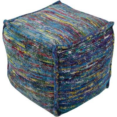 Cadwell Pouf Ottoman Upholstery: Aqua