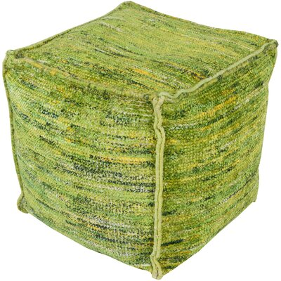 Cadwell Pouf Ottoman Upholstery: Lime