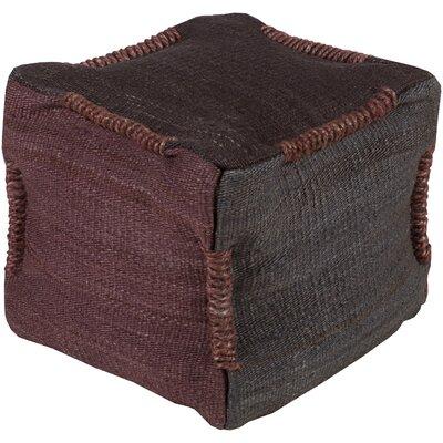 Schin Pouf Ottoman Upholstery: Black / Burgundy
