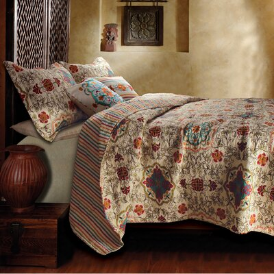 Koge 5 Piece Reversible Coverlet Set Size: King