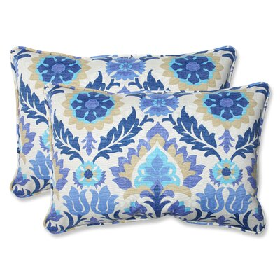 Dyanna Indoor/Outdoor Bench Pillow (Set of 2) Size: 16.5 H x 24.5 W, Color: Azure
