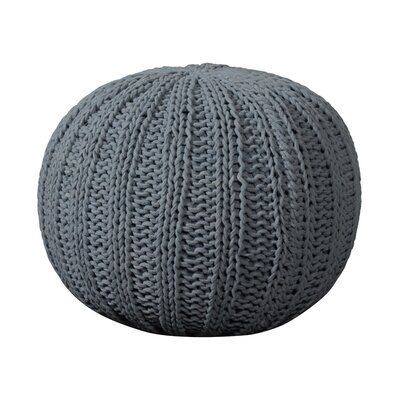 Canala Hand Knitted Traditional Pouf Ottoman Upholstery: Aluminum