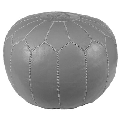 Mouassine Pouf Leather Ottoman Upholstery: Grey