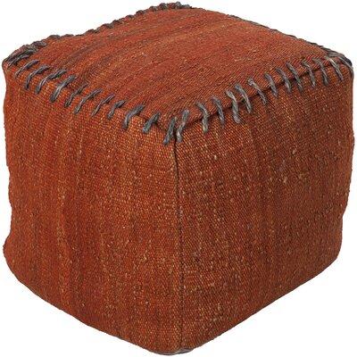 Waalwijk Pouf Ottoman Upholstery: Rust / Olive
