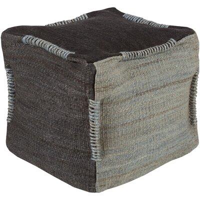 Schin Pouf Ottoman Upholstery: Black / Slate