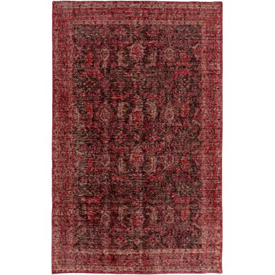 Heerhugowaard Hand-Knotted Red Area Rug Rug Size: Rectangle 56 x 86