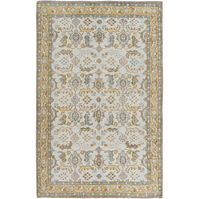 Heerhugowaard Hand Knotted Beige/Blue Area Rug Rug Size: Rectangle 56 x 86