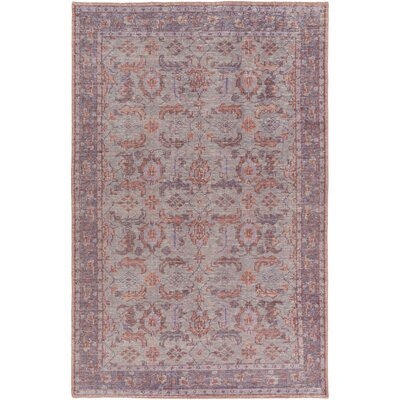 Heerhugowaard Hand-Hooked Purple Area Rug Rug Size: Rectangle 2 x 3