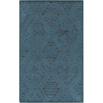 Enkhuizen Hand-Woven Blue Area Rug Rug Size: Rectangle 2' x 3'