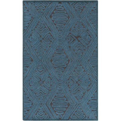 Enkhuizen Hand-Woven Blue Area Rug Rug Size: 4 x 6