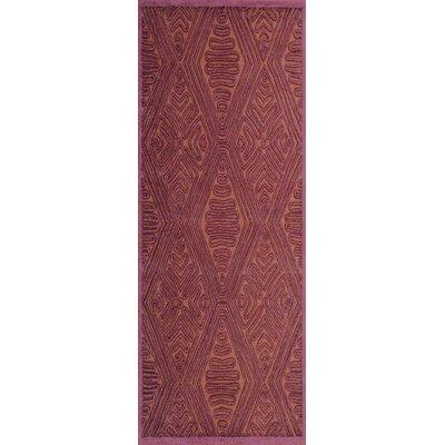 Enkhuizen Hand-Woven Purple/Beige Area Rug Rug Size: Runner 26 x 8
